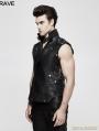 Black Gothic Heavy Punk Waistcoat for Men
