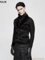Black Gothic Vintage Jacquard Vest for Men