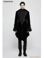 Black Gothic Gorgeous Medium Long Style Coat for Men