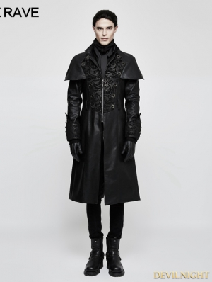 Black Gothic Vintage Style Cape Coat for Men