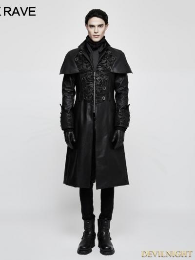 Black Gothic Vintage Style Cape Coat for Men