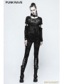 Black Gothic Punk Japanese Two-Piece Set T-shirt for Women
