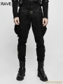 Black Gothic Steampunk Riding Breeches for Men