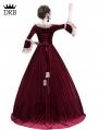 Wine Red Velvet Marie Antoinette Queen Theatrical Victorian Dress