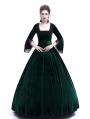Green Velvet Marie Antoinette Queen Theatrical Victorian Dress