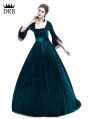 Blue Velvet Marie Antoinette Queen Theatrical Victorian Dress