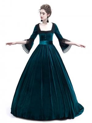 Blue Velvet Marie Antoinette Queen Theatrical Victorian Dress
