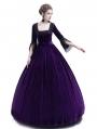 Purple Velvet Marie Antoinette Queen Theatrical Victorian Dress