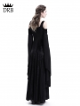 Black Velvet Off-the-Shoulder Medieval Dress
