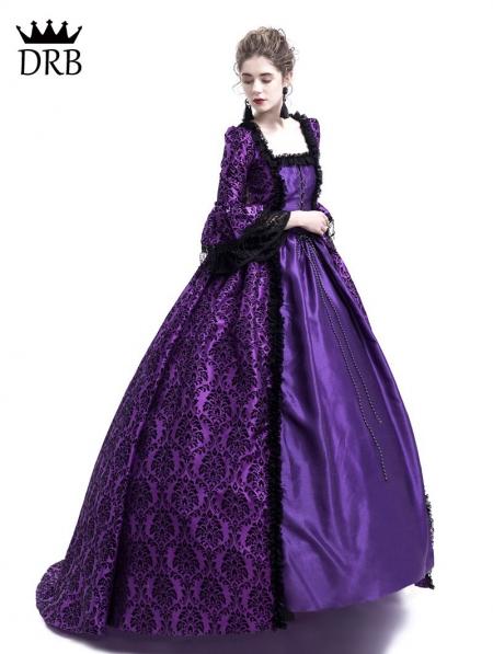 2787e6c8b2e5 Purple Masked Ball Gothic Victorian Costume Dress - Devilnight.co.uk