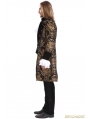 Gold Printing Pattern Gothic Swallow Tail Jacket for Men