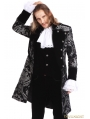 Sliver Printing Pattern Gothic Swallow Tail Jacket for Men
