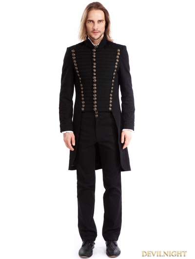 Black Gothic Vintage Swallow Tail Coat for Men
