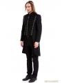 Black Gothic Vintage Swallow Tail Coat for Men