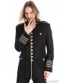 Black Mens Gothic Military Uniform Jacket