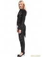 Black Gothic Punk Rock Short Jacket for Women