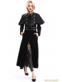 Black Velvet Gothic Long Cape Coat for Women