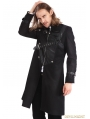 Black Gothic Punk Belt Coat for Men