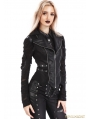 Black Gothic Punk Swallow Tail Waistcoat for Women