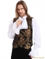 Gold Printing Pattern Gothic Vest for Men