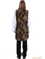 Gold Printing Pattern Gothic Swallow Tail Vest for Men