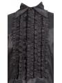 Black Long Sleeves Gothic Blouse for Men