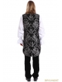 Silver Printing Pattern Gothic Swallow Tail Vest for Men