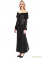 Black Off-the-Shoulder Long Sleeves Gothic Shirt for Women