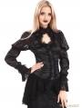 Black Vintage Long Sleeves Asymmetric Gothic Shirt for Women