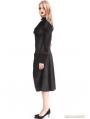 Black Vintage Gothic Bowtie Blouse for Women