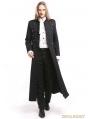 Black Vintage Gothic Long Trench Coat for Men