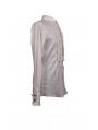 White Long Sleeves Gothic Blouse for Men
