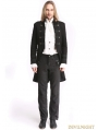 Black Vintage Palace Style Gothic Swallow Tail Jacket for Men