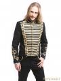Black Gold Vintage Gothic Palace Style Short Jacket for Men