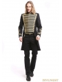 Black Gothic Vintage Palace Style Swallow Tail Coat for Men