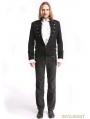 Black Vintage Pattern Gothic Short Jacket for Men