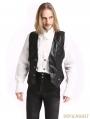 Black Vintage Pattern Gothic Vest for Men