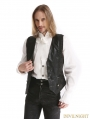 Black Vintage Pattern Gothic Vest for Men