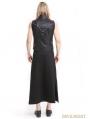 Black PU Leather Gothic Punk Waistcoat for Men