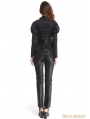 Black Gothic Bubble Sleeves Blouse for Women