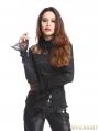 Black Long Sleeves Beading Gothic Blouse for Women