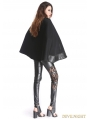 Black Vintage Gothic Double-Breasted Cape for Women