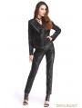 Black PU Leather Rivets Gothic Punk Short Jacket for Women