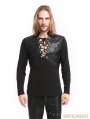Black Gothic Warrior Long Sleeves T-Shirt for Men