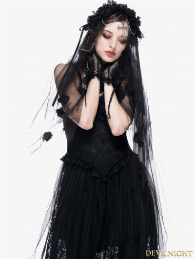 Romantic Gothic Bride Cross Veil