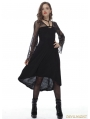 Black Fashion Gothic Lace High-Low Harness Dress
