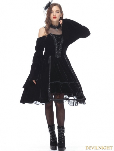 Black Noble Velet Gothic Princess Dress