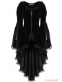 Black Gothic Noble Velvet Cocktail Jacket for Women