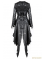 Black Gothic Halloween Style PU Leather Hooded Jacket for Women