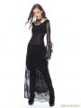 Black Gothic Casual Hollow-out Lace Long Skirt